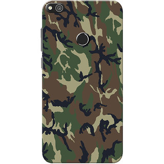 Huawei Honor 8 Lite Case, Huawei P8 Lite Case, Military Army Camouflage Slim Fit Hard Case Cover/Back Cover