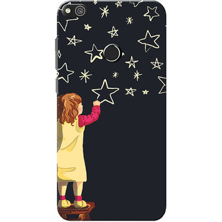 Huawei Honor 8 Lite Case, Huawei P8 Lite Case, Twinkle Star Black Slim Fit Hard Case Cover/Back Cover