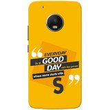 Moto G5 Plus Case, Name Starts With S Yellow Orange Slim Fit Hard Case Cover/Back Cover