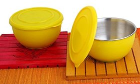Shubh Shop 2pcs yellow Micro Safe Bowl