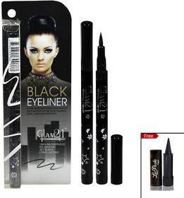 GLAM21 Black Eyeliner With Laperla kajal