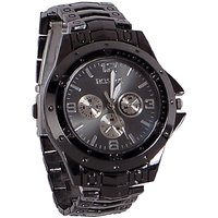 Rosra Black Analog Watch For Men And Boy