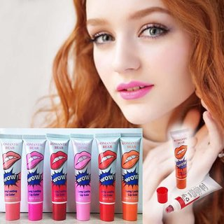 6 Colors Tattoo Magic Color Peel Off Mask Tint Long Lasting Waterproof Lip GlossLong Lasting, Colorful, Waterproof, Matt