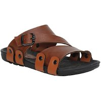 Stylos Men's S2 Tan Synthetic Sandals