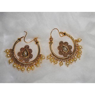 Arista Traditional Golden Beautiful Earrings