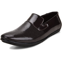 Igbo Men's Brown Synthetic Leather Slip-On Formal Shoe