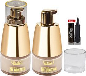 GLAM21 Oil Control Skin Foundation with Laperla Kajal