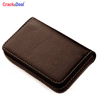High Quality Soft Brown or Black  Leather ATM  Card Holder