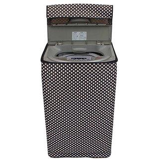 Dream CarePolka White and Black Coloured Waterproof & Dustproof Washing Machine Cover For Panasonic NA-f62h6 Fully Automatic Top Load 6.2 kg washing machine