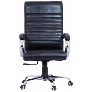 Furniease High Back Exective Office Chair in Black Leatherette