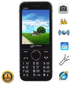 Micromax X707 (Dual Sim, Multimedia Phone, Grey)