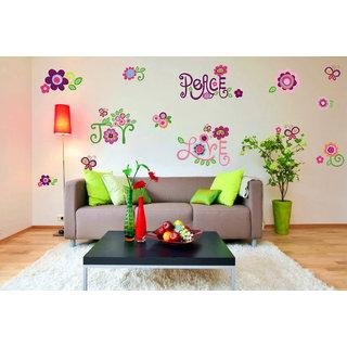Decor Villa Wall Sticker (Peace joy love,Wall Covering Area -190 x 81 CM)