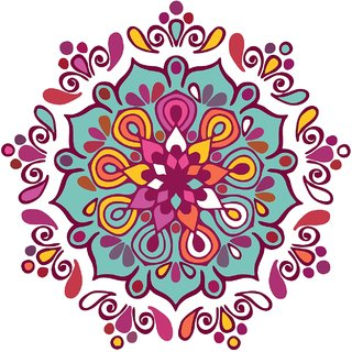 Decor Villa Decor Villa 79 Rangoli Floor Sticker (Size- 60 x 60 cm, Pack Of 1)