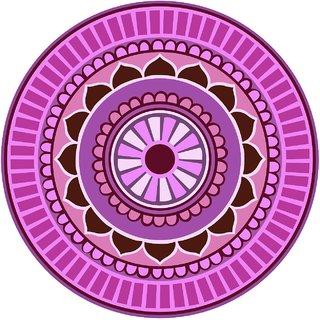 Decor Villa Decor Villa 88 Rangoli Floor Sticker (Size- 60 x 60 cm, Pack Of 1)