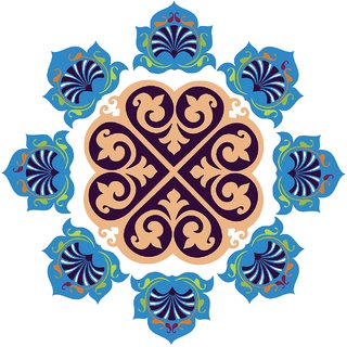 Decor Villa Decor Villa 95 Rangoli Floor Sticker (Size- 60 x 60 cm, Pack Of 1)