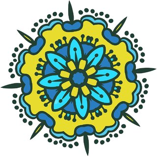 Decor Villa Decor Villa 74 Rangoli Floor Sticker (Size- 60 x 60 cm, Pack Of 1)