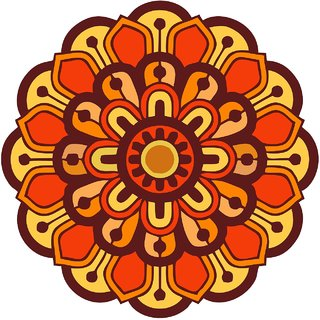 Decor Villa Decor Villa 68 Rangoli Floor Sticker (Size- 60 x 60 cm, Pack Of 1)
