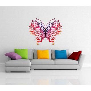 Decor Villa Wall Sticker (Beautiful butterfly,Wall Covering Area -58 x 48 CM)