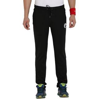 omtex Lycra Bottom Trackpants For Men -  Regular Fit - Black
