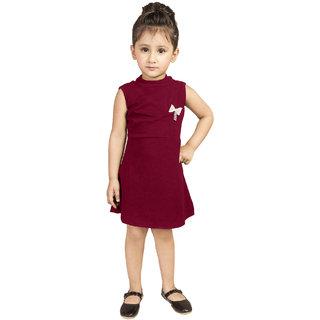 972ecb9dfce8 Buy Addyvero Girls Midi Knee Length Party Dress (Maroon