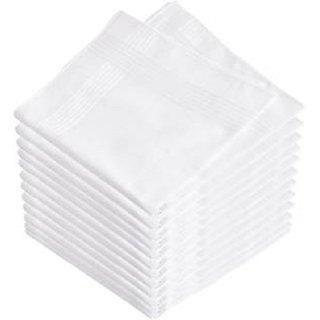 Cotton White Handkerchief Pack of 3