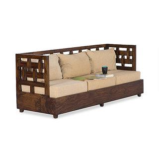 Elegant Solid Wood Sofa Chair