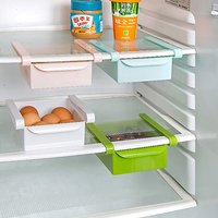 Multi Purpose Plastic Storage Rack Organizer for Refrigerators (Color May Vary - 1 Piece)