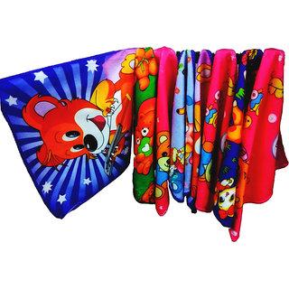 Cartoon Face Towel Set of 10 (Assorted color)