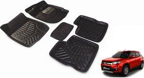 Black 3D Car Foot Mat For Maruti Vitara Brezza