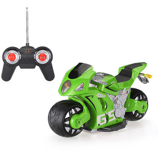 ShopMeFast 2.4GHz 1/8 High Simulated 180 Drifting RC Motorcycle Car Toy For Kids