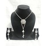 Fancy Silver Pendant Necklace Set