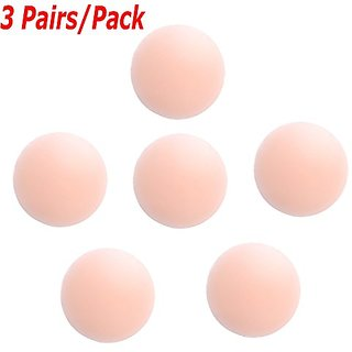 IndiRocks Women Skin Reusable Thin Silicone Nipple Cover Pasties Pack Of 3