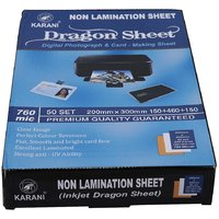 PVC Dragon Sheet set of 50 Core and 100 Overlay Inkjet Printable for PVC CARD A4 size
