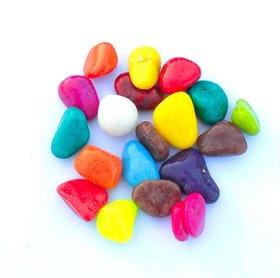 Multicolour Glass Pebbles for Decoration
