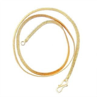 Beadworks Gold Plated Gold Brass & Copper Chain for Women