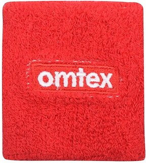 Omtex Wrist Sweat Band (3 inch) - Red