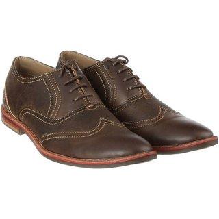 G.T.B Men's Formal Derby Shoes(BROWN)