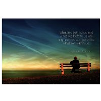 Power Of Soul Quote Vinyl Home Decor PVC Wall Sticker ( 91 Cms X 61 Cms)