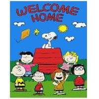 Welcome Home Cartoon  Vinyl Home Decor PVC Wall Sticker ( PVC Plastic Sticker , 28 Cm X 12 Cm)