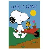 Welcome  Cartoon  Vinyl Home Decor PVC Wall Sticker ( PVC Plastic Sticker , 28 Cm X 12 Cm)