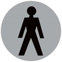 Toilet Male Restroom  Vinyl Home Decor PVC Wall Sticker ( PVC Plastic Sticker , 15 Cm X 15 Cm)