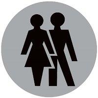 Unisex Male/Female Toilet  Restroom  Vinyl Home Decor PVC Wall Sticker ( PVC Plastic Sticker , 15 Cm X 15 Cm)