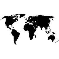 World Map Vinyl Home Decor PVC Wall Sticker ( PVC Plastic Sticker , 91 Cm X 61 Cm)