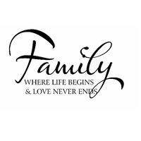 Family Life Quote Vinyl Home Decor PVC Wall Sticker ( PVC Plastic Sticker , 91 Cm X 61 Cm)