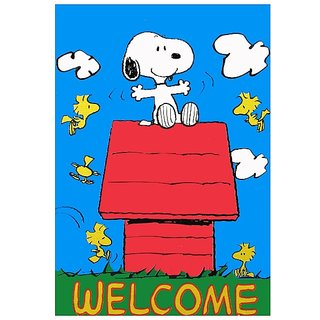Welcome  Cartoon  Vinyl Home Decor PVC Wall Sticker ( PVC Plastic Sticker , 28 Cm X 12 Cm)
