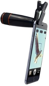 Parishi  W 12X Zoom Mobile Phone Telescope Lens with Adjustable Clip Mobile Phone Lens