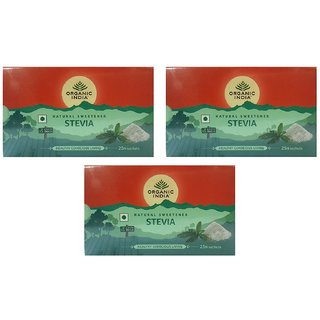 Organic India Natural Sweetener Stevia 25N Sachets (Pack of 3)