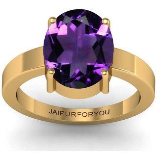 jaipurforyou Certified Amethyst (Katela) 3.80 cts or 4.25 ratti Panchdhatu ring