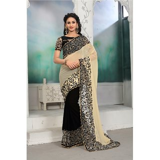 64c3e52845c672 Buy Dhandai Fashion Orange Net Embroidered Saree With Blouse Online ...