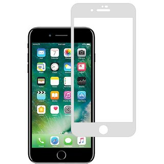 Stuffcool Mighty 2.5D Full Screen Tempered Glass Screen Protector Guard for Apple iPhone 8 Plus - White